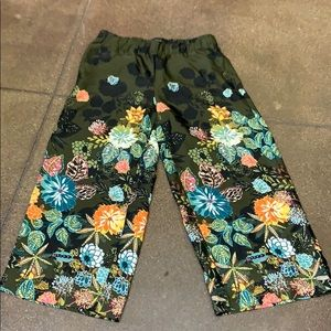 Loft floral 100% polyester elastic waist flare